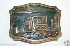 WOW Vintage Worn Aged 1977 San Fransisco CA Cable Car Belt Buckle Rare