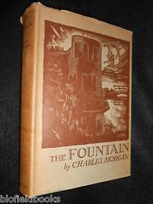 Charles Morgan; The Fountain - 1932-1st - WWI Set Novel, Vintage Fiction Novel