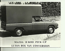 Mazda B 1600 Pick Up Luton Box Van Conversion Original Press Photograph