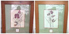 CHARLES RENNIE MACKINTOSH WILLOW & FRITILLARIA TWO LARGE FRAMED PRINTS MATTED