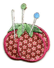 Sewing - Quilting - Pin Cushion - Embroidered Iron On Applique Patch - B