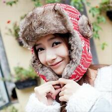 Womens Lovely Winter Warm Bomber Cap Lady Russian Trapper Ear Flaps Ski Hat Caps