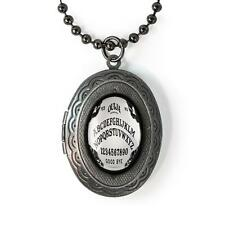 Gothic Bats Ouija Spirit Board Glass Occult Gunmetal Keepsake Locket Necklace
