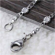 Wholesale Lot 4 Piece Fashion Stainless Steel Silver Classic Long Chain Necklace