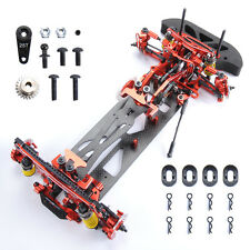 Alloy & Carbon Fiber 078055R G4 1/10 4WD Drift RC Racing Car Frame Kit Red Hotsa
