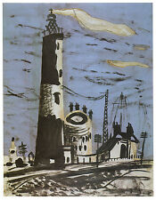 Dungeness lighthouse, John Piper print in 11 x 14 inch mount ready to frame