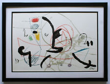 Original 1975 Joan MIRO Large Limited Lithograph MARAVILLAS Framed SIGNED COA