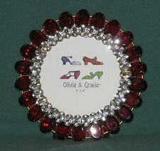 Olivia & Gracie - Crystal Picture Frame - Red Crystals & Clear Crystals