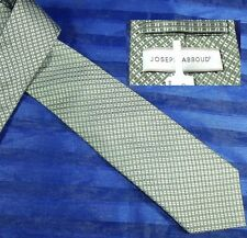 NEW JOSEPH ABBOUD LIGHT GREEN WHITE CHECK PLAID  SILK NECK TIE