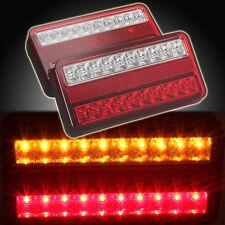 2x 12V 20 LED TRAILER TRUCK CARAVAN REAR TAIL BRAKE STOP INDICATOR LIGHT LAMP
