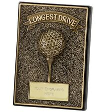APEX GOLF PLAQUE SOLID RESIN 2D LONGEST DRIVE TROPHY AWARD 12.75cm A1293 SS