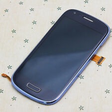 Full LCD Touch Screen Lens Digitizer Frame for Samsung Galaxy S3 Mini i8190 Blue