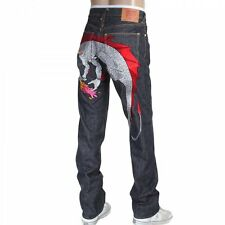 RMC Jeans silver embroidered Hungry Dragon Japanese selvedge denim jeans RMC3743