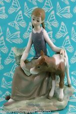 Lladro # 4813 ~ GIRL W/CALF  *** MINT CONDITION ***      BUY 1 GET 1 50% OFF