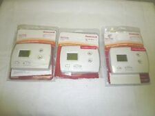 (3) HONEYWELL RTH3100C NON-PROGRAMMABLE THERMOSTAT HEAT PUMP HEATING