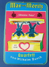 Quartett - Max und Moritz - S&S - Nr. 631 8200 - Schwarzer Peter - Kartenspiel