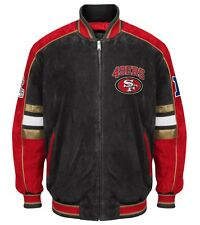 Officially Licensed NFL San Francisco 49ers Varsity Suede Leather Team Jacket L
