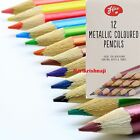 24 METALLIC COLOURED PENCILS DRAWING SKETCHING ART ARTIST PICTURE PENCIL DRAW