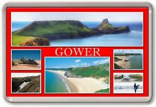 FRIDGE MAGNET - GOWER - Large - Wales TOURIST