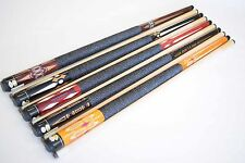 "SET OF 5 POOL CUES New 58"" Canadian Maple Billiard Pool Cue Stick #8 PLUS SHIP"