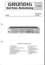Grundig Service Manual für V 7000