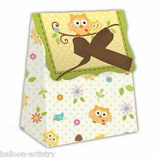 12 Happy Sweet Tree Animali Baby Shower Party Di Carta Bottino trattare favore scatole sacchetti
