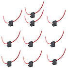 10 X 16 Gauge Car Motor ATC Fuse Holder Box IN-LINE AWG Wire Copper Plug 30A