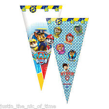 PAW Patrol Sweet CONES Childrens Birthday Kids Cello Party Bags Favours x6