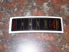 """Scotty Cameron Custom Order """"Made To Play"""" Red - Black - Gold Putter Shaft Band"""