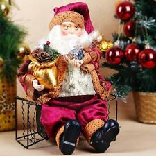 New Cute Christmas ornament Xmas Gift Decoration Santa Claus Sitting Style Decor