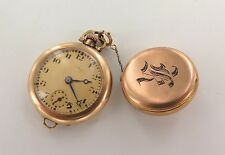 *1918 ILLINOIS 14K GOLD NURSES WATCH GRADE 903, MODEL 1, 6/0 15J KETCHAM BROOCH
