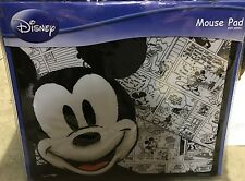 Disney Mickey Mouse Cartoon Sketch Strip Mouse Mat Matt - Black And White