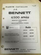 Bennett Parts Catalog Manual 4514 4524 4515 4525 4522 4527 Gas Pumps Chevron