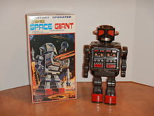 "METAL HOUSE SUPER SPACE GIANT 16"" ROBOT BLACK METARU HAUSE HORIKAWA JAPAN NOS"