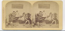 1870's STEREOVIEW CHILD PHOTOGRAPHER WITH CAMERA BY F. G. WELLER