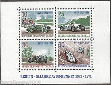 Berlin  50 Jahre AVUS Rennen  MiNr.  397 - 400 **  Mehrfachangebot  vom  Block 3