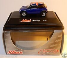 MICRO METAL DIE CAST SCHUCO HO 1/87 MINI COOPER BLEUE TOIT UNION JACK IN BOX