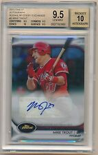 2012 Topps Finest MIKE TROUT Mystery Redemption Rookie Auto #029/100 BGS 9.5/10