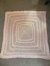 Vintage 1970s Hand-Crocheted Child's Blanket/Lap Throw