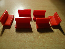 LEGO 1 x 2 x 1 RED  PANEL  PART No 4865