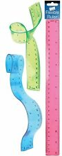NEW Just Stationery 12 inch Bendy Ruler