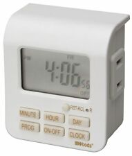 Coleman Cable 50008 7-Day Indoor Digital Timer 2 Conductor, White