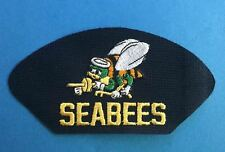 Rare Vintage 1990's US Navy Fighting Seabees Iron On Hat Patch Crest 139