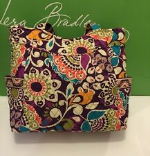 NWT Vera Bradley Pleated Tote Shoulder / Hand Bag In Plum Crazy