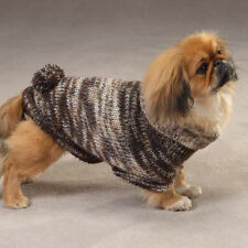 Metallic Turtleneck DOG Sweater with Poms T Teacup