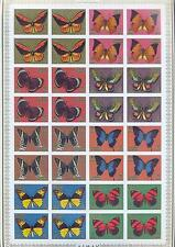 AJMAN 1971, Butterflies, imperf., 4 x set of 8 (MS), MNH**(90)