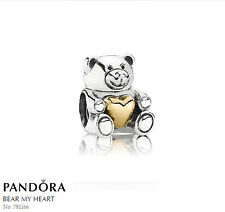 PANDORA Charm Sterling Silver ALE S925 TEDDY BEAR MOTHERS DAY 791166 rrp $79