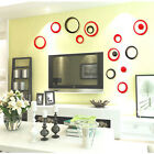 3D Ring Circles DIY Wall Stickers Removable Vinyl Mural Home Decoration