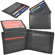 Real Leather Gents Wallet & Credit Card Slip Sleeve Holder ID Coin Pocket Tray F