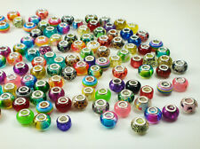 50pcs mix murano DIY Jewelry charm LAMPWORK bead fit European Bracelet gift #8